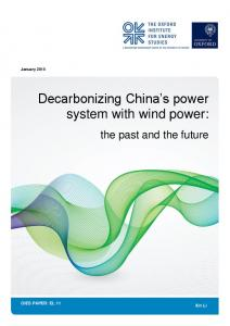 Decarbonizing China's power system with wind power:
