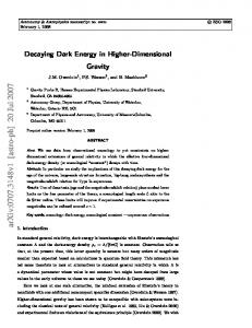 Decaying Dark Energy in Higher-Dimensional Gravity
