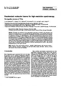 Decelerated molecular beams for high-resolution spectroscopy ...