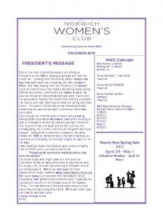 December 2010 Newsletter - NorwichWomensClub.org