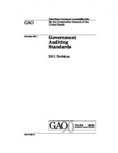 December 2011 Government Auditing Standards
