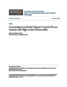 Decentralized and Fault-Tolerant Control of Power