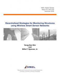 Decentralized Strategies for Monitoring Structures using ... - CiteSeerX