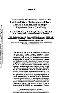 Decentralized Wastewater Treatment for