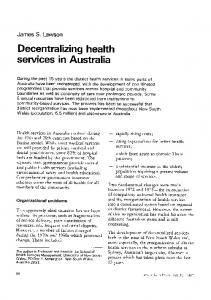 Decentralizing health - World Health Organization