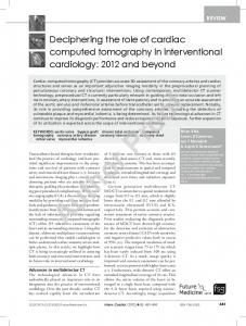 Deciphering the role of cardiac computed tomography