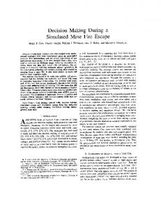 Decision Making During 21 Simulated Mine Fire ... - WV Mine Safety