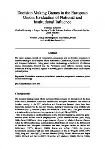 Decision Making Games in the European Union: Evaluation of ... - orsnz