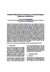 Decision Making under Uncertainty in a Decision Support ... - iEMSs