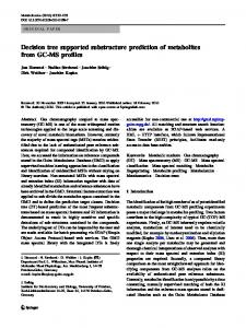 Decision tree supported substructure prediction of ... - CiteSeerX