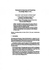 Declaratively Querying and Visualizing Knowledge ... - Semantic Scholar