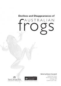 Declines and Disappearances of Australian Frogs