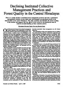 Declining Instituted Collective Management Practices and Forest ...