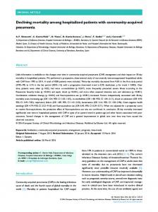 Declining mortality among hospitalized patients with community ...