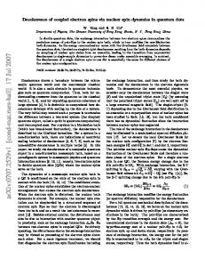 Decoherence of coupled electron spins via nuclear spin dynamics in ...
