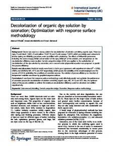 Decolorization of organic dye solution by ozonation - Springer Link