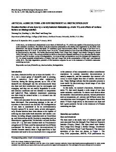 Decolourization of azo dyes by a newly isolated ... - Semantic Scholar