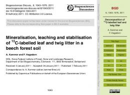 Decomposition of 13C-labelled leaf and twig litter