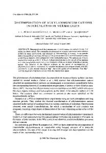 decomposition of alkylammonium cations intercalated in vermiculite