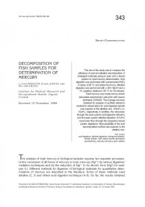 decomposition of fish samples for determination of mercury