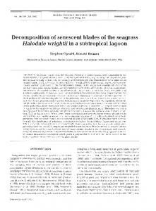 Decomposition of senescent blades of the seagrass ... - Inter Research