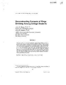 Deconstructing Contexts of Binge Drinking Among College Students