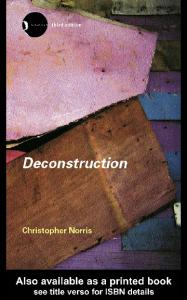 Deconstruction: Theory and Practice, 3rd Edition