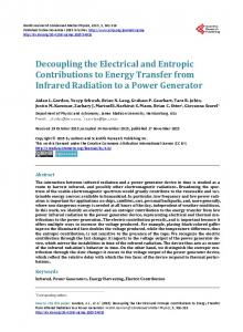 Decoupling the Electrical and Entropic Contributions to Energy ...