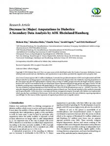 Decrease in (Major) Amputations in Diabetics: A Secondary Data ...