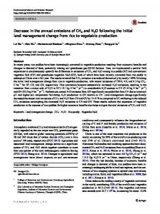 Decrease in the annual emissions of CH4 and N2O ... - Springer Link