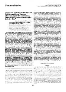 Decreased activity of the heparan sulfate-modifying enzyme ...