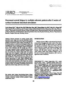 Decreased central fatigue in multiple sclerosis patients after 8 weeks ...