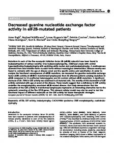Decreased guanine nucleotide exchange factor activity in ... - Nature