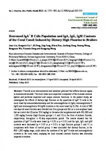 Decreased IgA+ B Cells Population and IgA, IgG, IgM ... - BioMedSearch