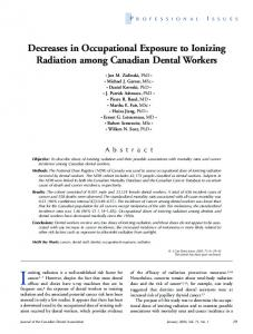 Decreases in Occupational Exposure to Ionizing ... - CiteSeerX