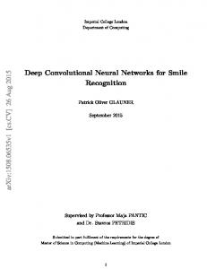 Deep Convolutional Neural Networks for Smile