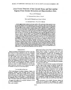 Deep crustal structure of the Cascade Range ... - Wiley Online Library