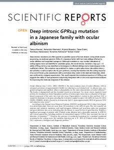 Deep intronic GPR143 mutation in a Japanese family with ... - Nature