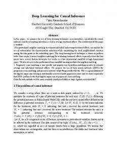 Deep Learning for Causal Inference - arXiv