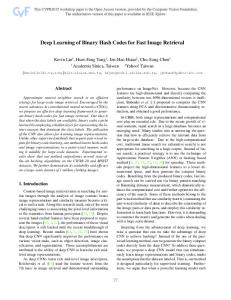Deep Learning of Binary Hash Codes for Fast Image Retrieval
