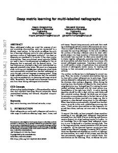 Deep metric learning for multi-labelled radiographs