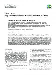 Deep Neural Networks with Multistate Activation Functions