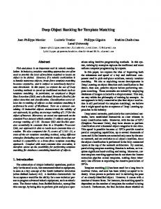 Deep Object Ranking for Template Matching - ulaval ULAVAL