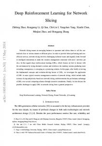 Deep Reinforcement Learning for Network Slicing - arXiv