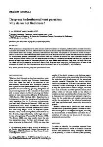 Deep-sea hydrothermal vent parasites: why do we not ...