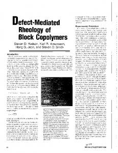 Defect-Mediated Block Copolymers