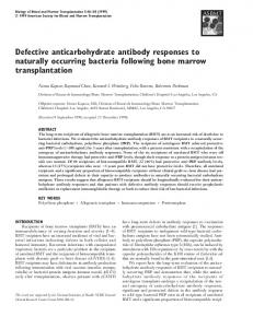 Defective anticarbohydrate antibody responses to naturally occurring ...