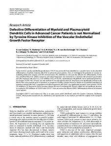Defective Differentiation of Myeloid and ... - Semantic Scholar
