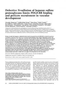 Defective N-sulfation of heparan sulfate proteoglycans limits PDGF-BB ...