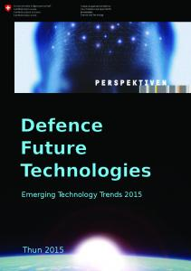 Defence Future Technologies - Future Emerging Technology Trends